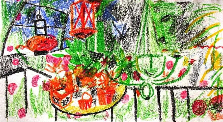 Garden Painting - Garden Gala by Anita Dale Livaditis