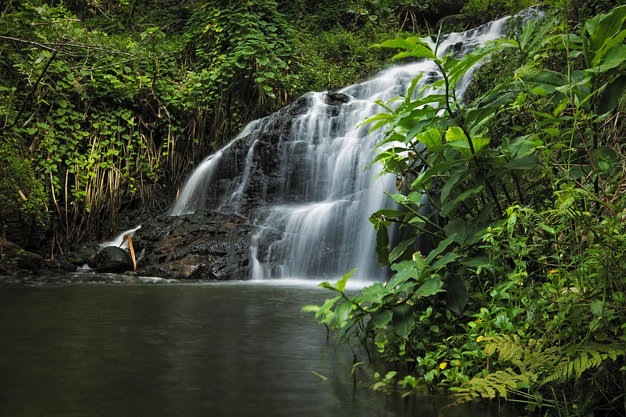 America Photograph - Garden Isle Waterfall by Hawaii  Fine Art Photography