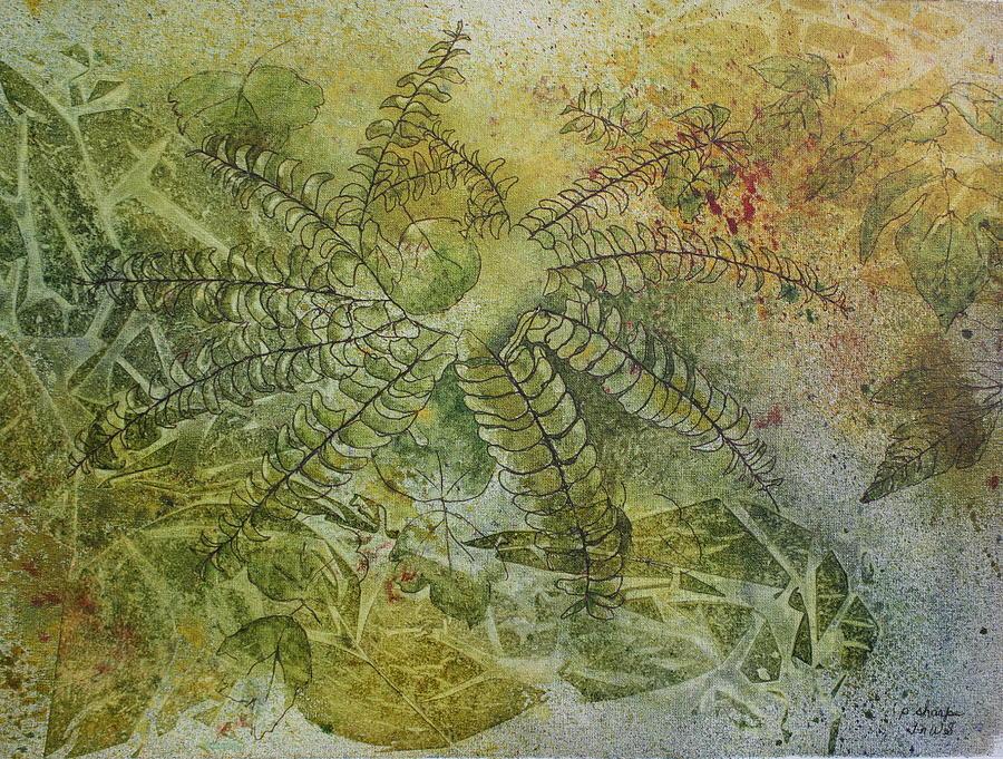 Mystical Landscape Painting - Garden Mist by Patsy Sharpe
