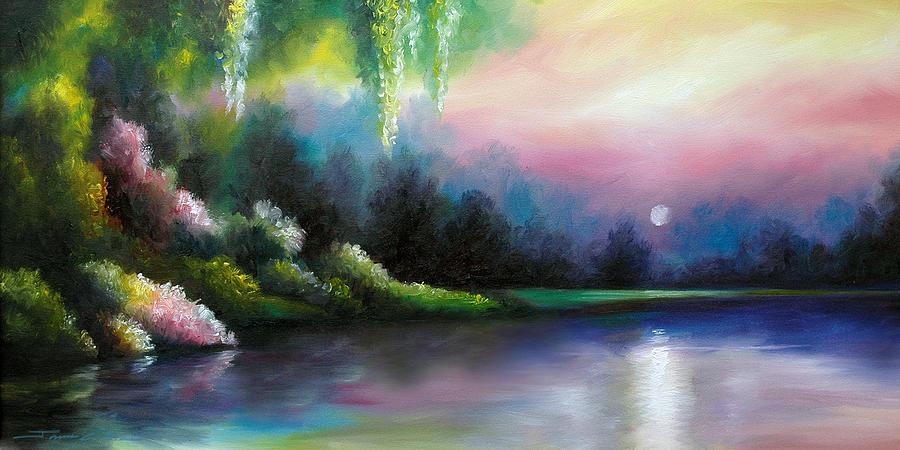Sunrise Painting - Garden of Eden I by James Christopher Hill
