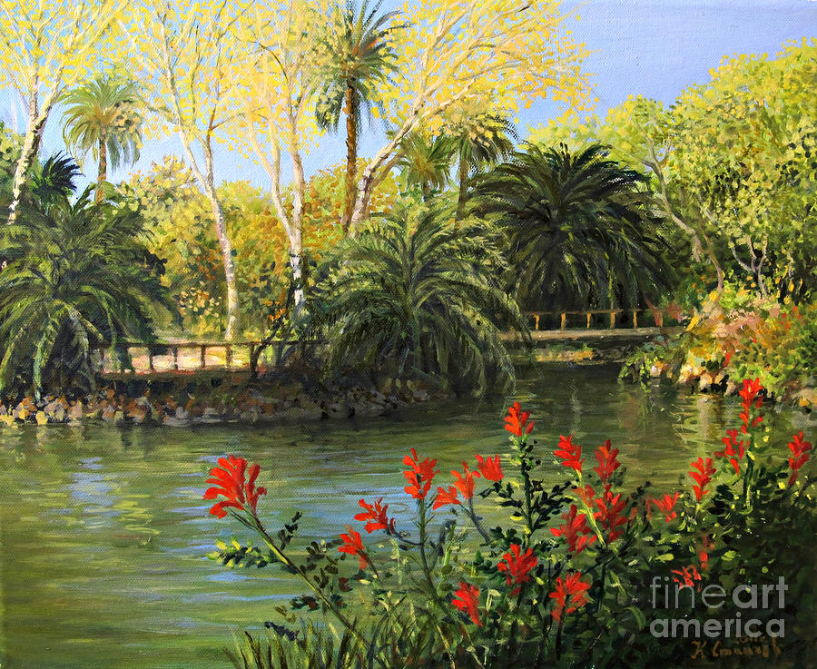 Artistic Painting - Garden Of Eden by Kiril Stanchev