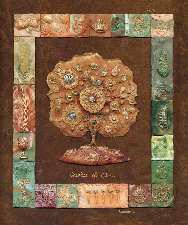 Ancient Painting - Garden Of Eden by Michoel Muchnik