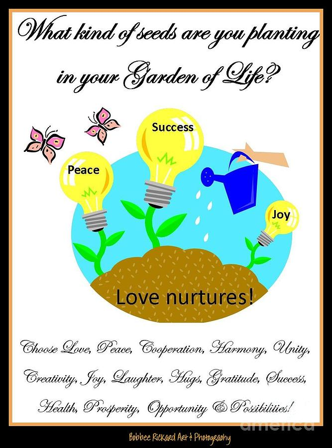 Garden Digital Art - Garden Of Life by Bobbee Rickard