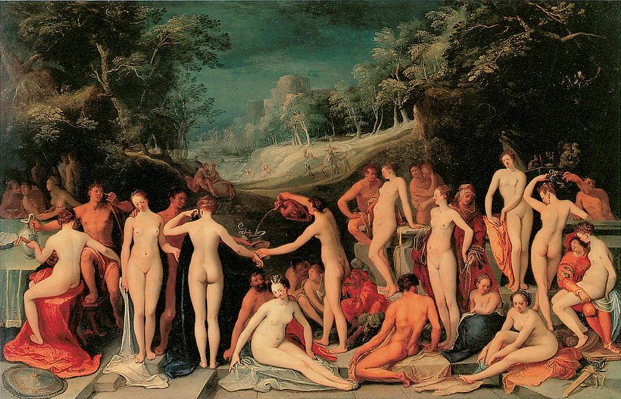 Van Mander Painting - Garden Of Love by Karel Van Mander I