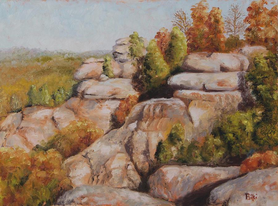 Fall Painting - Garden of the Gods by Biki Chaplain