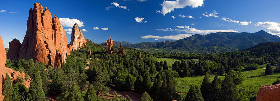 Garden Of The Gods Panorama At It 39 S Best Photograph By John Hoffman