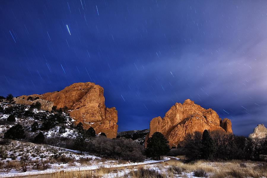 Garden Of The Gods Star Storm Photograph