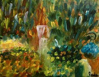 Landscape Painting - Garden On 11th Street by Steve Jorde