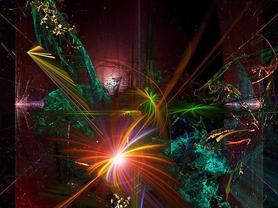 Garden Digital Art - Garden on the Edge of Forever by ReeNee  Cummins