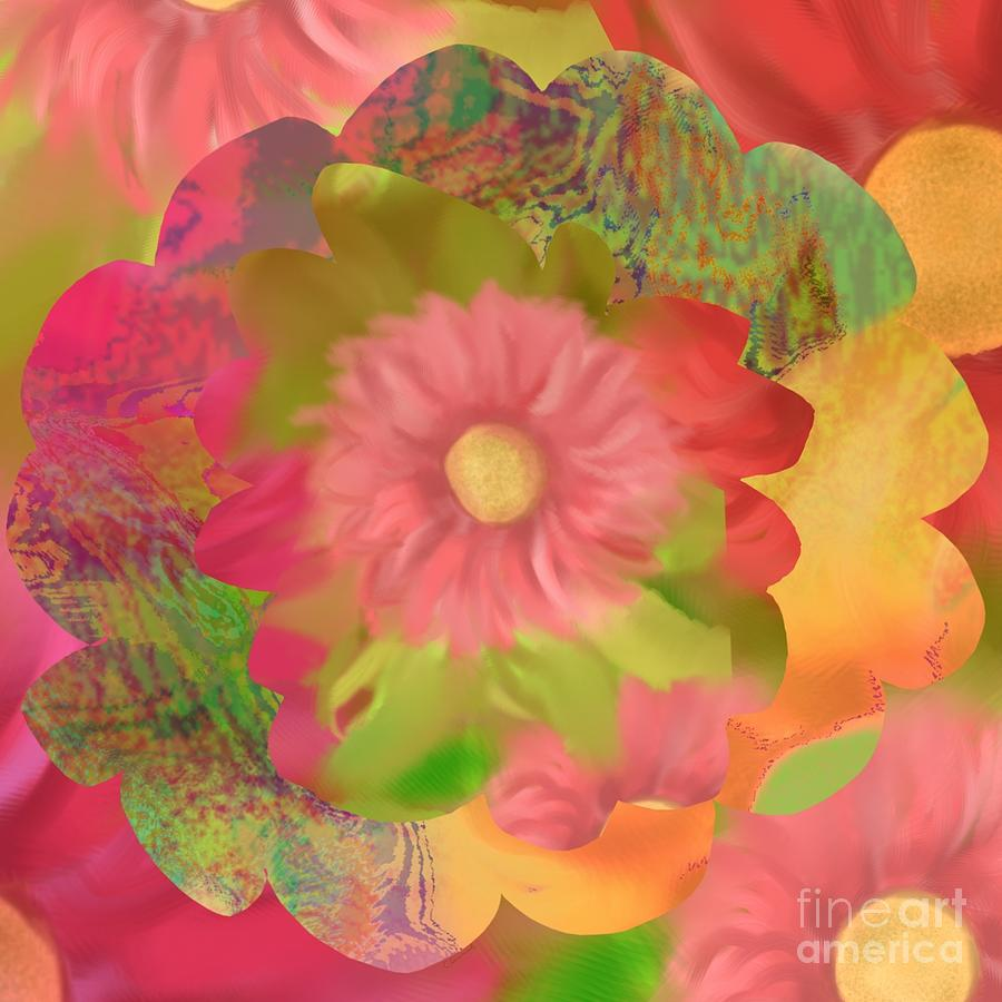 Abstract Digital Art - Garden Party by Christine Fournier