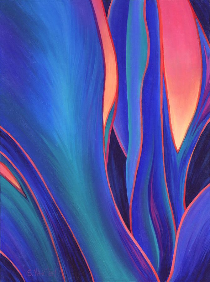 Abstract Painting - Garden Party by Sandi Whetzel