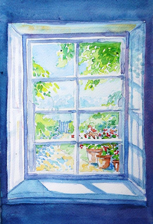 Image result for garden through window