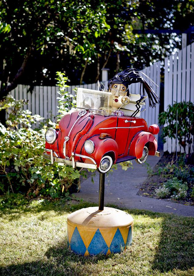 Car Photograph - Garden Rag Top Art by Her Arts Desire