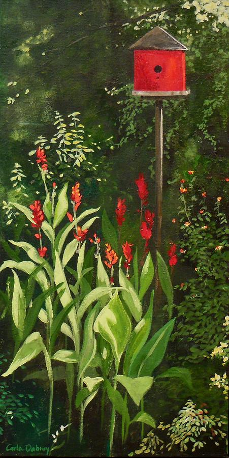 Red Painting - Garden Reds by Carla Dabney