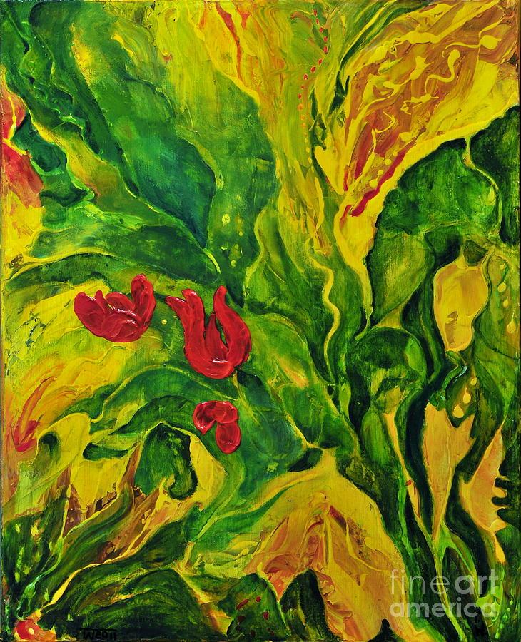 Abstract Painting - Garden Series No.2 by Teresa Wegrzyn