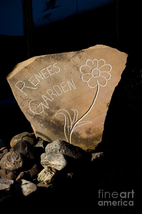 Stone Photograph - Garden Signs by The Stone Age