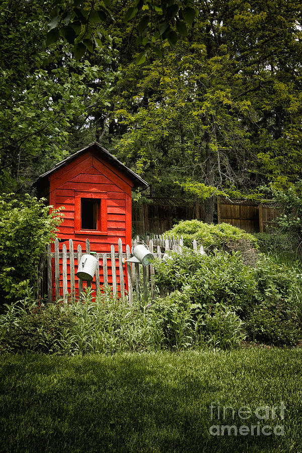 Shed Photograph - Garden Still Life by Margie Hurwich