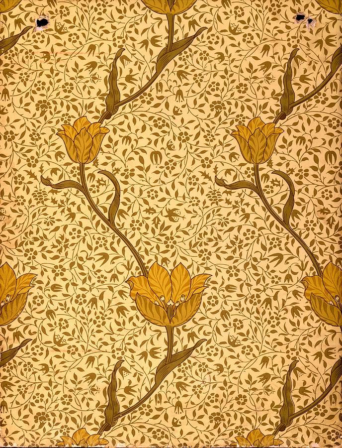 garden tulip wallpaper design tapestry   textile by