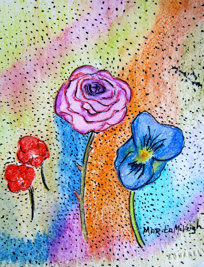 Garden Variety Painting By Marita Mcveigh