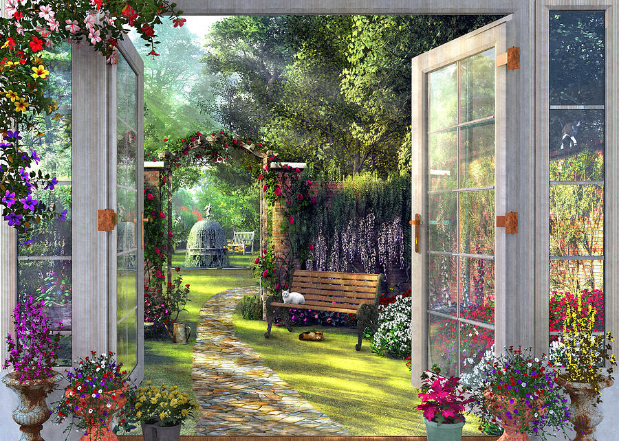 Garden View Drawing By Mgl Meiklejohn Graphics Licensing