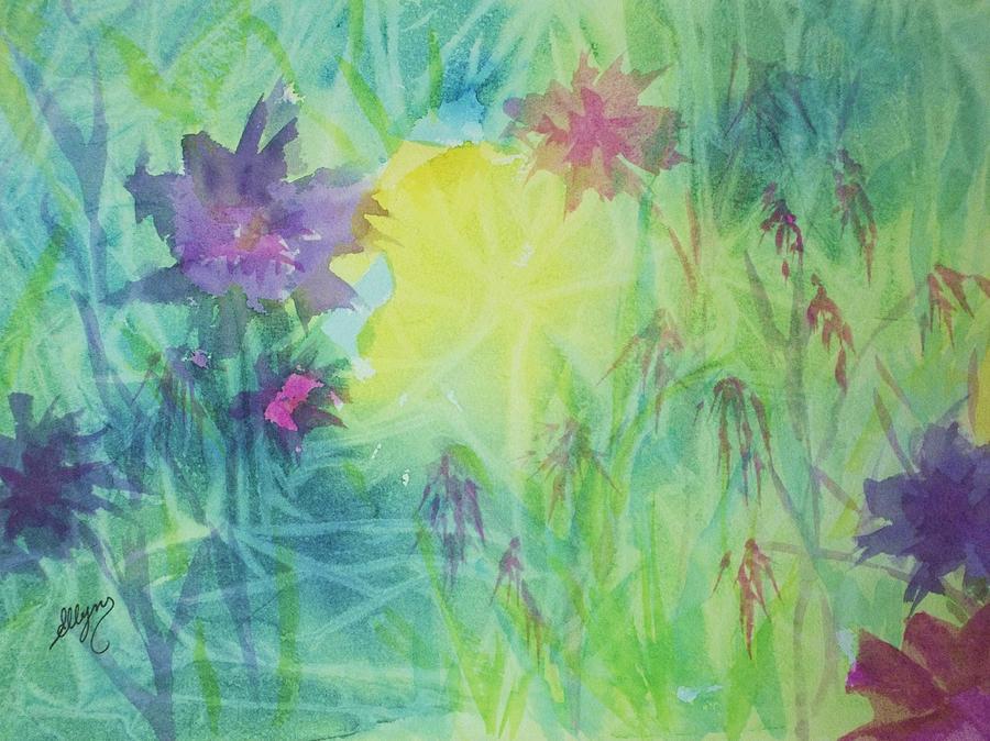 Garden Painting - Garden Vortex by Ellen Levinson