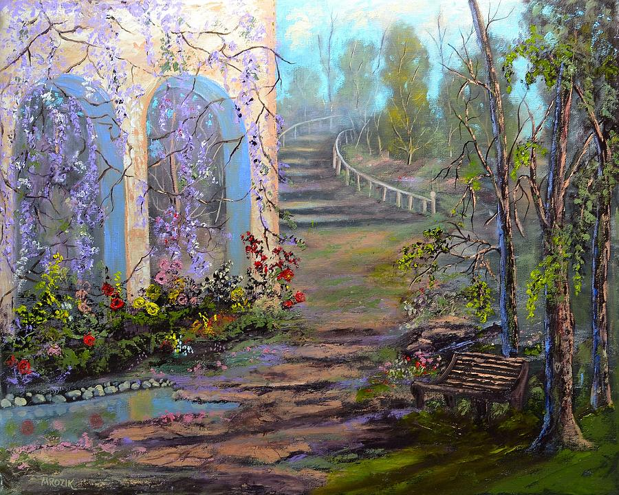 Landscape Painting - Garden Walk by Michael Mrozik