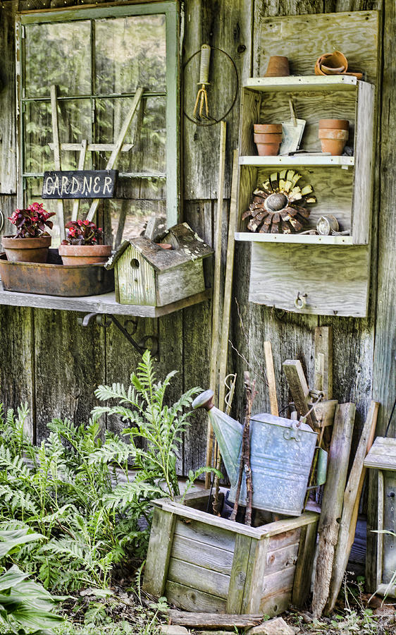 Gardener Photograph - Gardener Corner by Heather Applegate