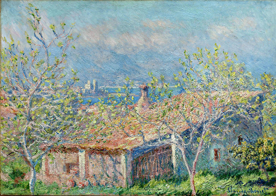 claude monet painting gardeners house at antibes by claude monet