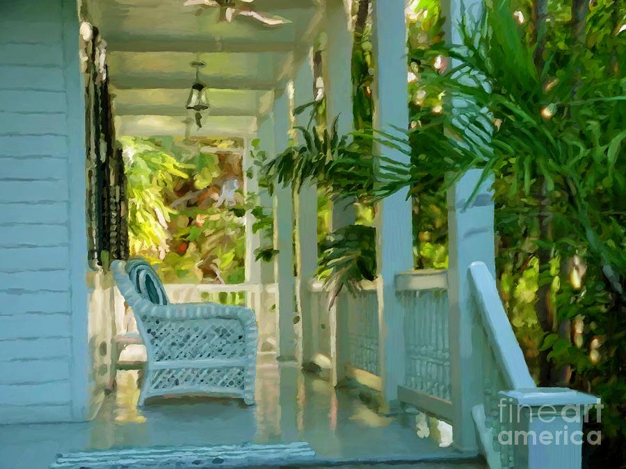 Gardens Porch in Key West by David Van Hulst