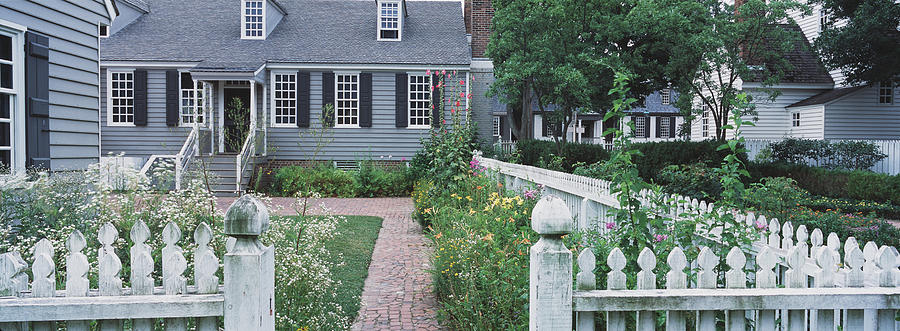 Color Image Photograph - Gardens Williamsburg Va by Panoramic Images