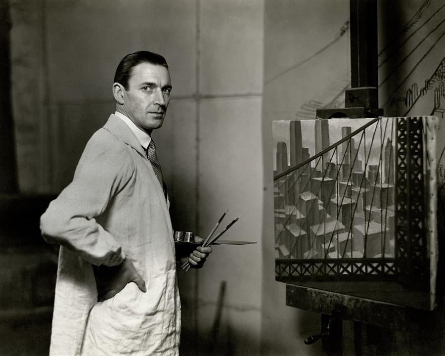 Gardner Hale In Front Of A Painting Photograph by Paul Hansen