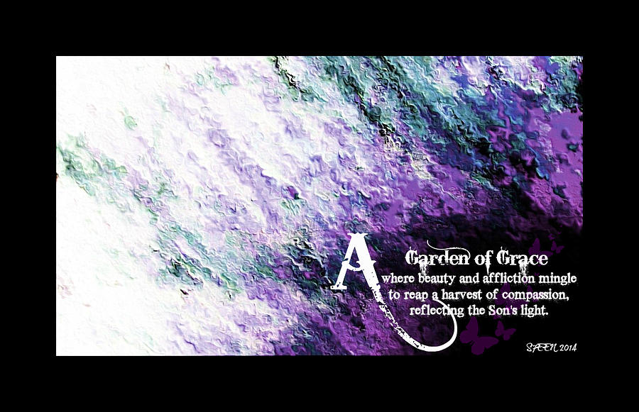 Impressionist Flowers Digital Art - Garen Of Grace 1 by Christine Nichols