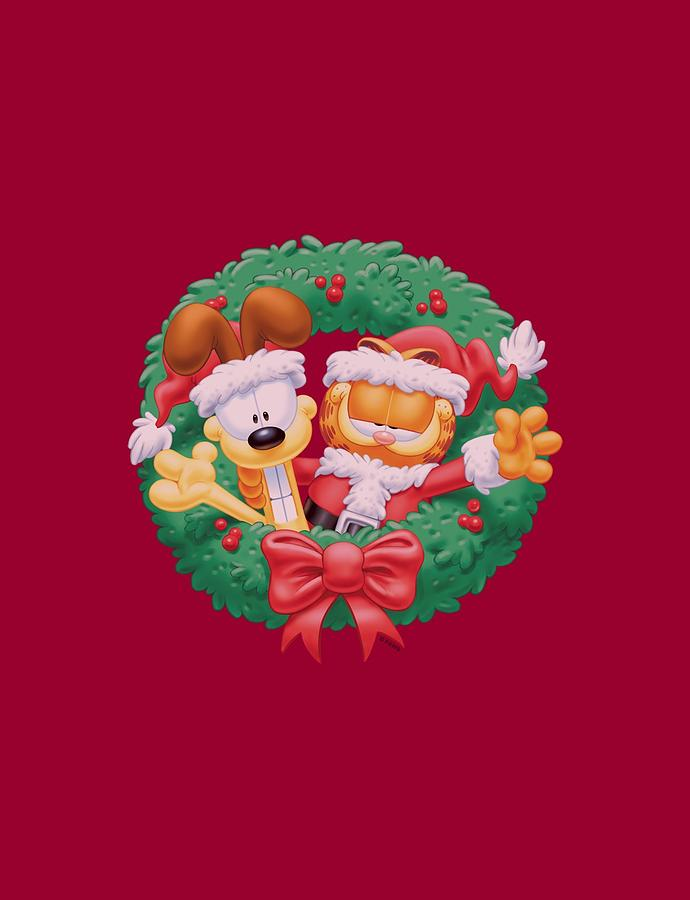Garfield Christmas.Garfield Christmas Wreath By Brand A