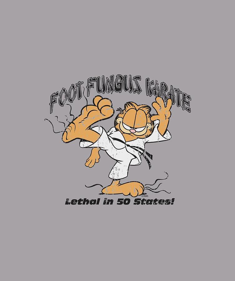 Garfield Foot Fungus Karate Digital Art By Brand A