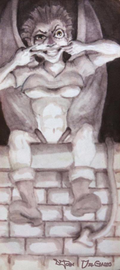 Garglin Gar-goyle Drawing