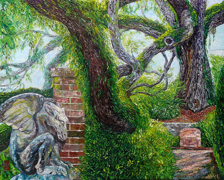 Gargoyle and Oak by Linda J Bean