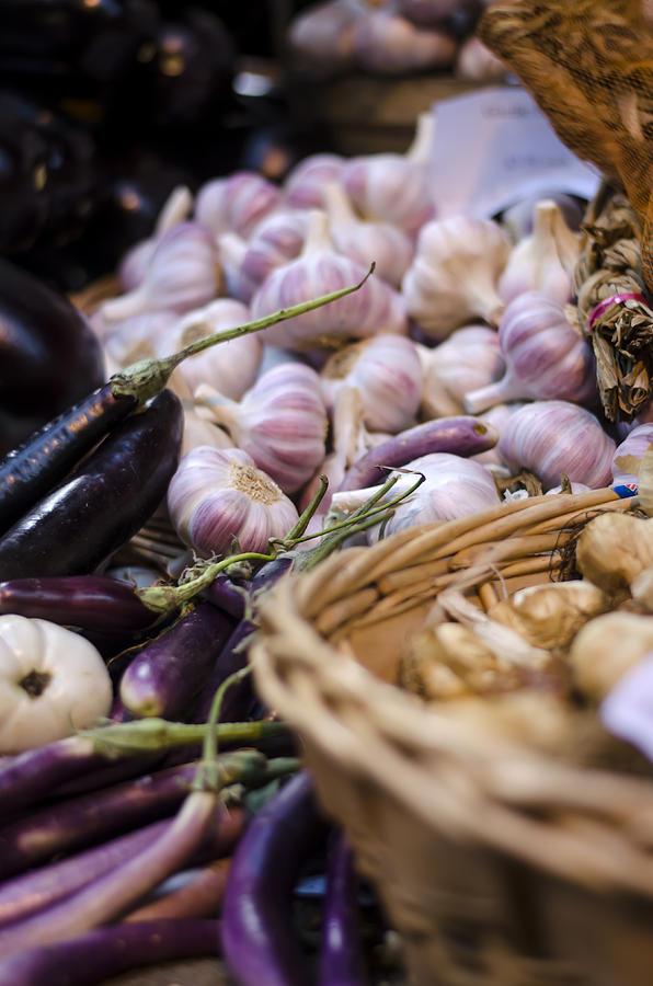 Garlic Photograph - Garlic At The Market by Heather Applegate