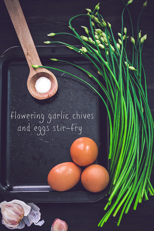 Garlic Chives And Eggs Photograph by Chien-ju Shen