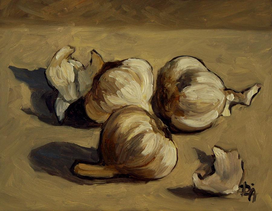 Garlic Painting - Garlic by Deborah Allison
