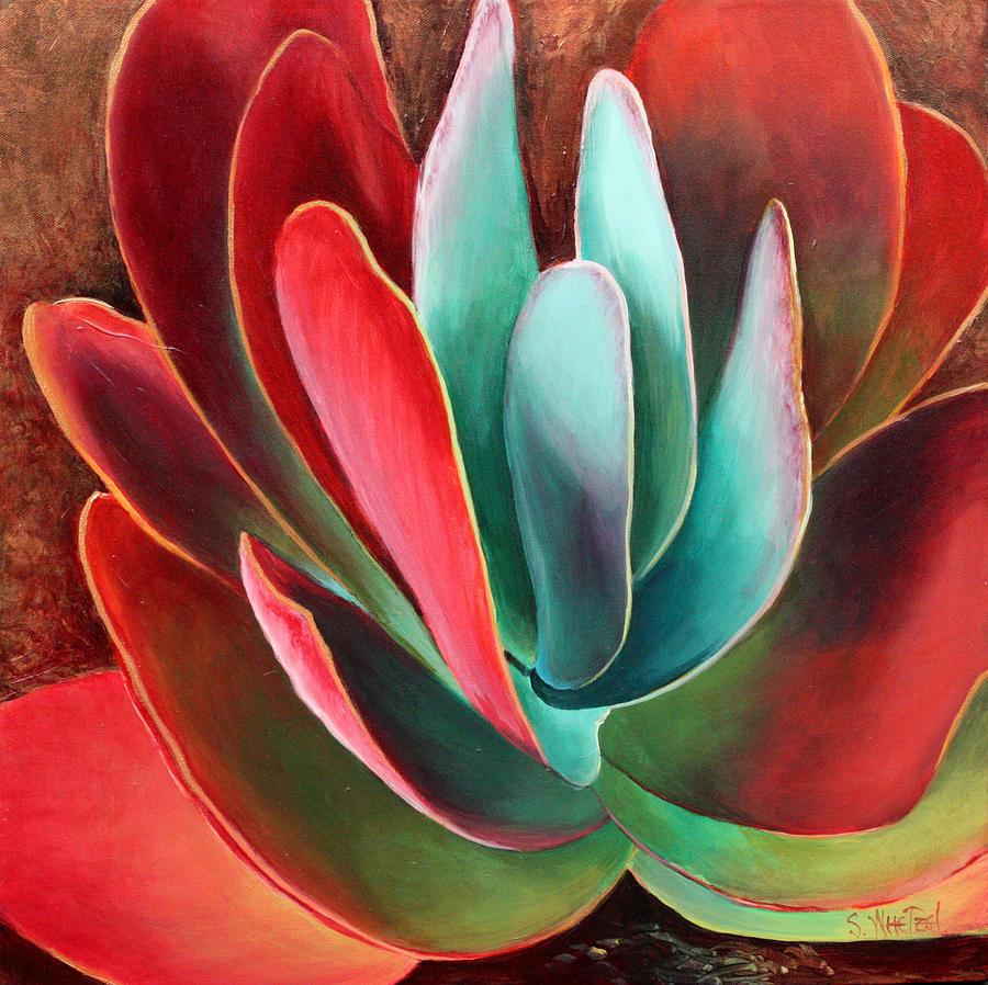 Garnet Painting - Garnet Jewel by Sandi Whetzel