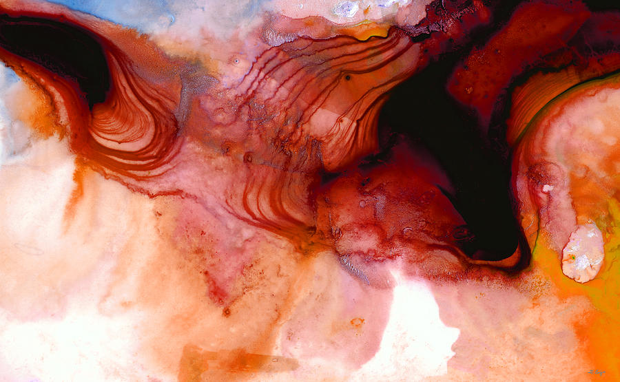 Abstract Painting - Garnet Sea - Abstract Art By Sharon Cummings by Sharon Cummings