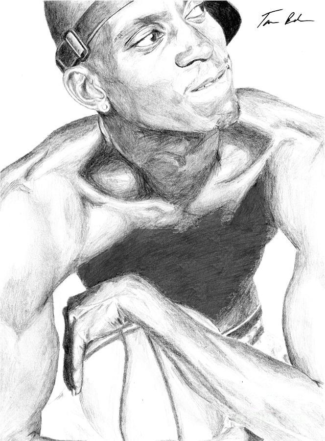 Garnett Drawing - Garnett 2 by Tamir Barkan