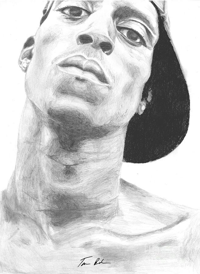 Garnett Drawing - Garnett 3 by Tamir Barkan