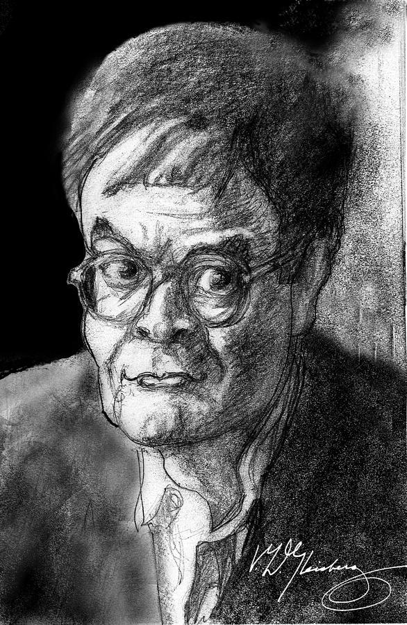 Humorist Drawing - Garrison Keillor An American Treasure by Dean Gleisberg