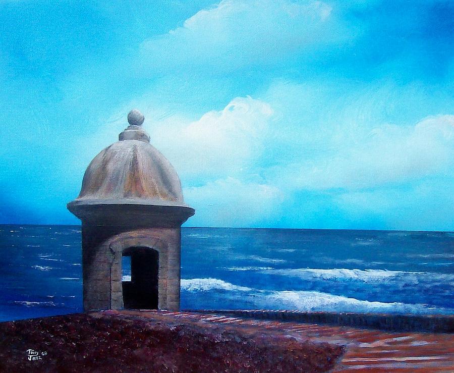 Seascape Painting - Garrita Del Diablo by Tony Rodriguez