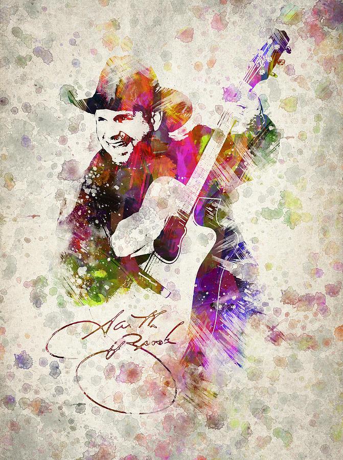 Garth Brooks Drawing - Garth Brooks by Aged Pixel