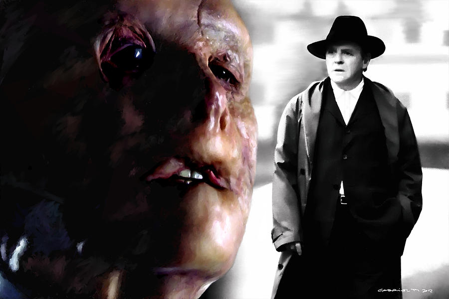 Anthony Hopkins Digital Art - Gary Oldman And Anthony Hopkins In The Film Hanibbal By Ridley Scott by Gabriel T Toro