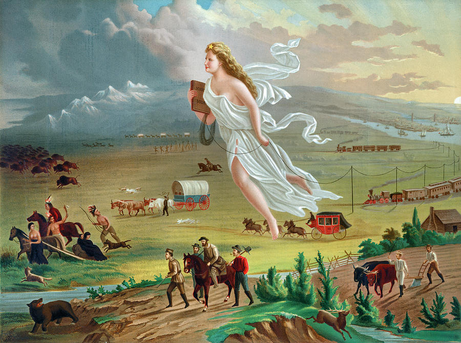 American Progress Painting by John Gast