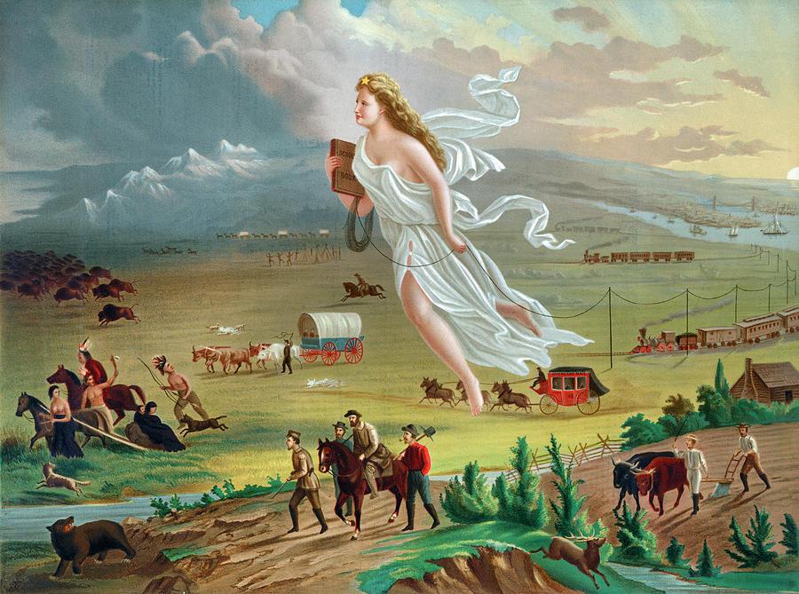 Gast American Progress Painting by Granger
