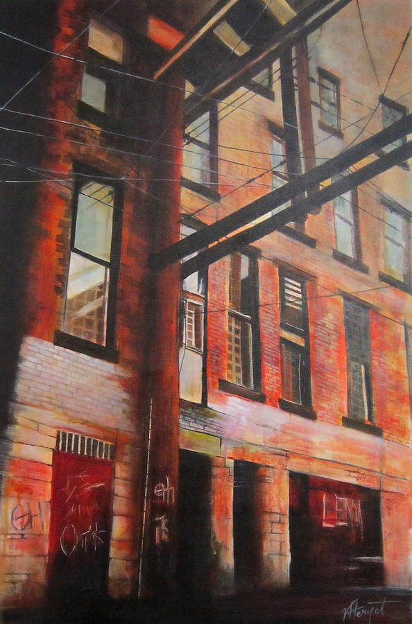 Vancouver Painting - Gastown Alley by Victoria Heryet